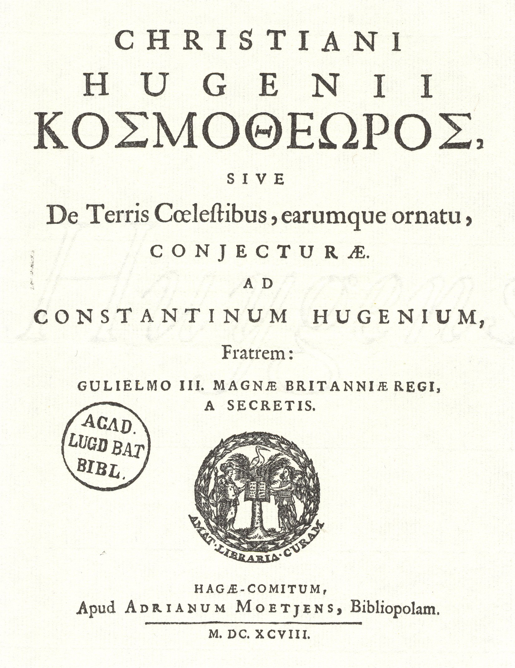 christiaan huygens cosmotheoros