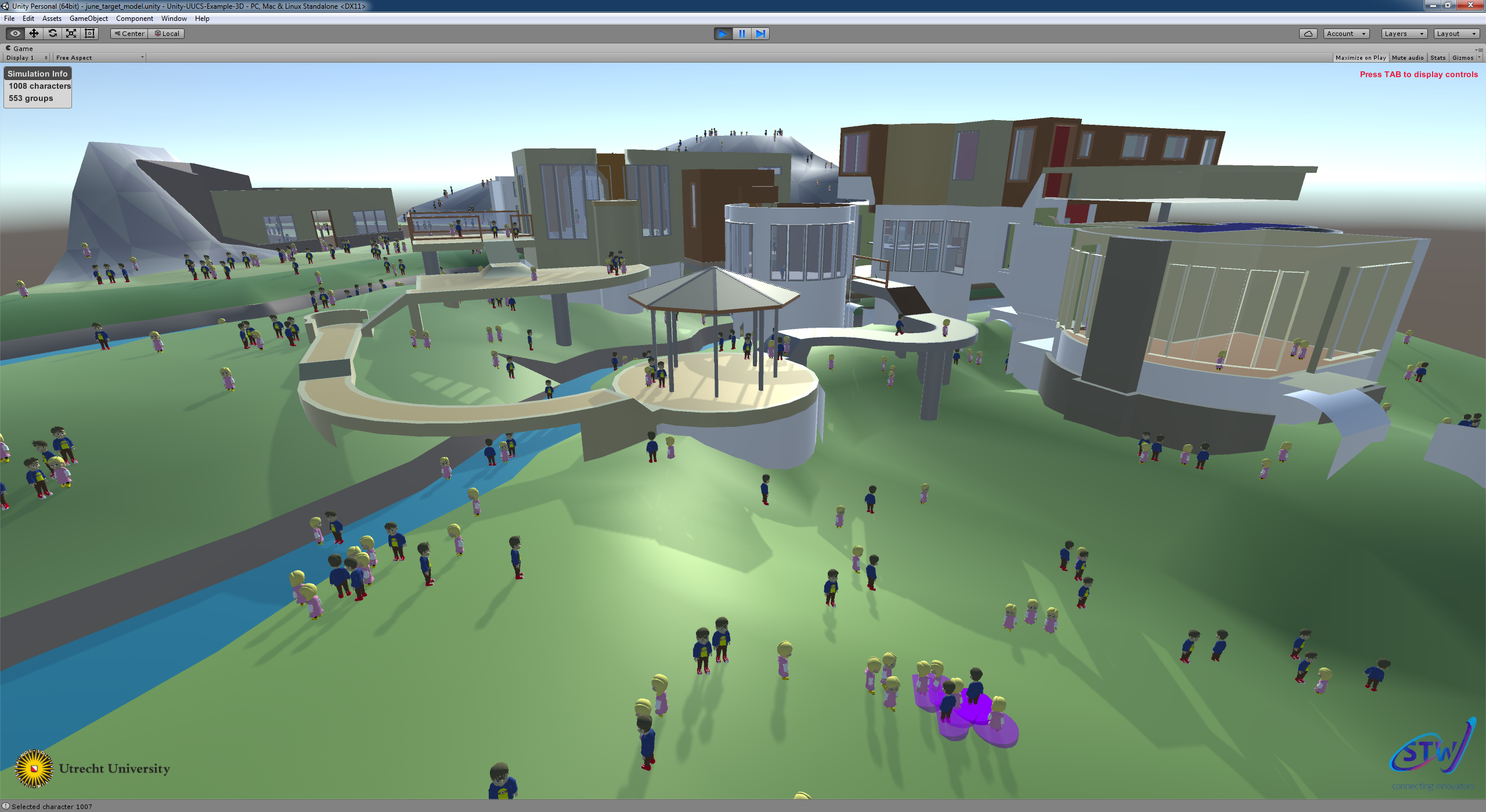 Homepage of Roland Geraerts - Crowd simulation software